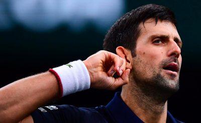 Le joueur de tennis serbe Novak Djokovic