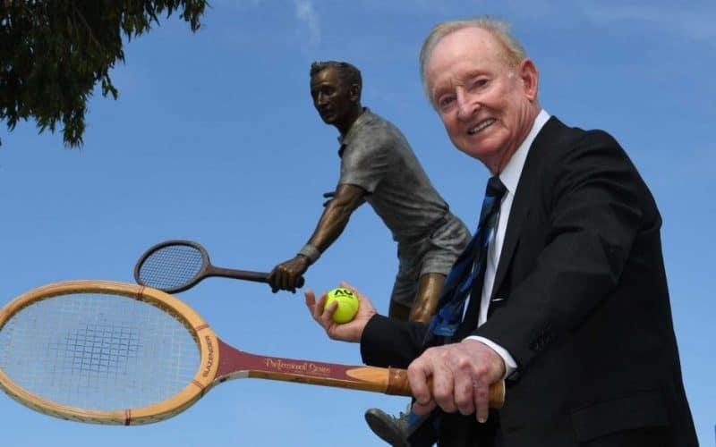 Rod Laver, seul joueur a avoir gagné 2 fois de suite dans la même année les tournois du grand chelem